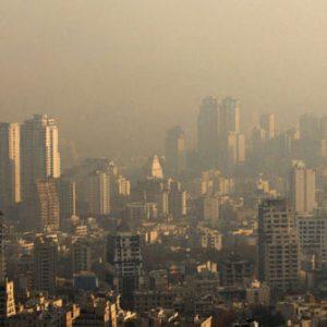 آلودگی شهر تهران در مرز خطر