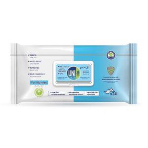 دستمال مرطوب بهداشتی بانوان (تمیز کننده ناحیه پرینال) یونی مد