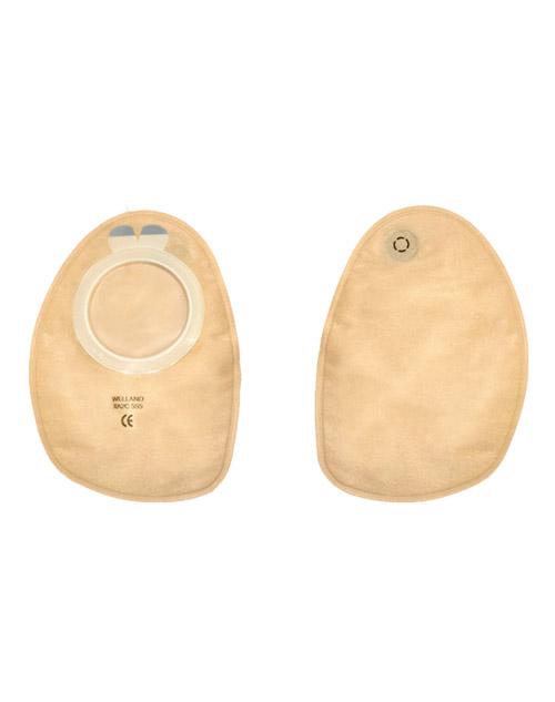 کیسه دو تکه ته بسته مات با حلقه اتصال 70 وللند Welland Flair Ostomy Bag