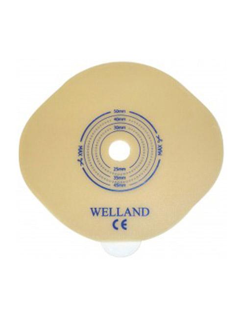 چسب پایه صاف قابل برش با حلقه اتصال 45 وللند Welland Ostomy Bag