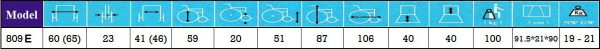 ویلچر استاندارد 809E-46